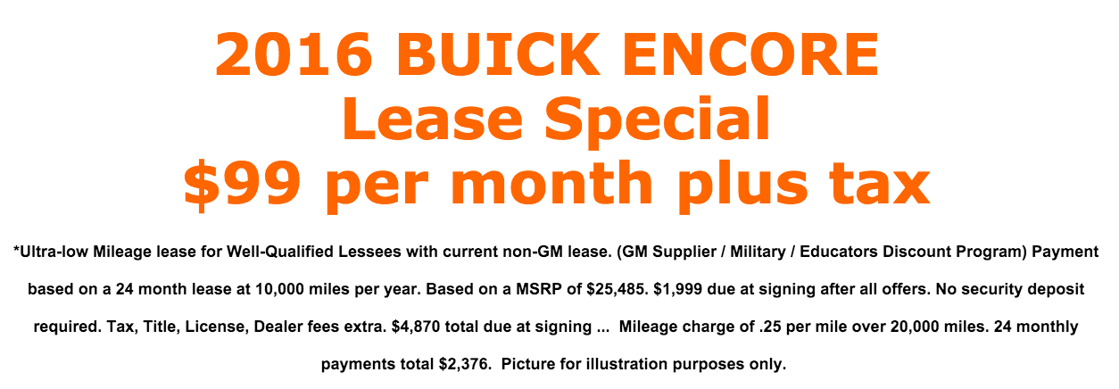 $99/mo lease offer - read the fine print